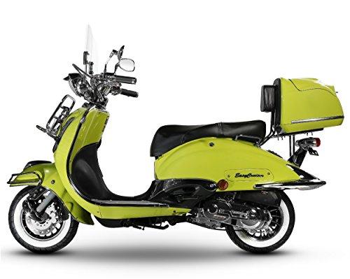 Retro Roller Easy Cruiser Chrom 50 ccm hellgrün Motorroller Scooter Moped Mofa Easycruiser grün