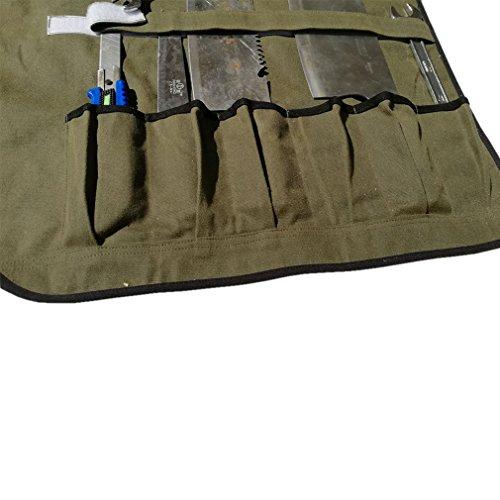 51qgyqFg8UL. SS500  - HANSHI Waterproof Waxedx Canvas Knife Roll Bag with 6 Slots Multi-Knife Tool Bags Storage for Culina