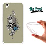 Becool® Fun - Cover Gel Flexible Umi London, TPU Case made out of the best Silicone, protects and adapts flawlessly to your Smartphone, together with our exclusive designs. Skull and roses