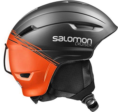 Salomon, Unisex Allround-Ski- und Snowboardhelm, EPS 4D, Gr. S, Kopfumfang 53-56 cm, CRUISER 4D, Schwarz/Orange, L39035000