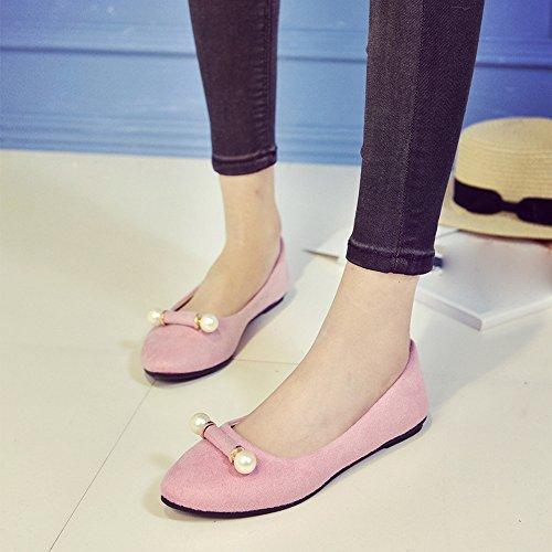 Longra Donna Scarpe comode scarpe comode scarpe nude Rosa