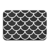 Makeover your bathroom with just a single touch! Start with these fun and decorative bathroom mats. Measurements: 23.6 INCHES WIDE X 15.7 INCHES LONG. This mat is very comfortable with it's soft plush surface. It has anti slip backing which i...