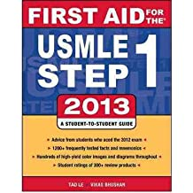 [ FIRST AID FOR THE USMLE STEP 1 2013 BY BHUSHAN, VIKAS](AUTHOR)PAPERBACK