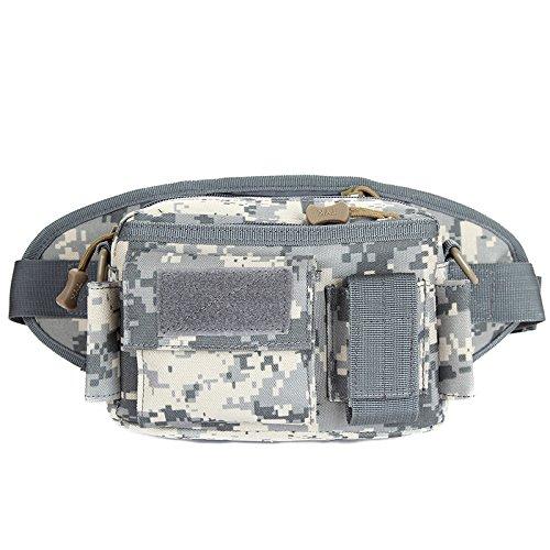 Zll/Esercito ventilatore outdoor tattico tasca sul petto da corsa in impermeabile tempo libero borsa a tracolla da viaggio staccabile tattico marsupio, wolf brown ACU