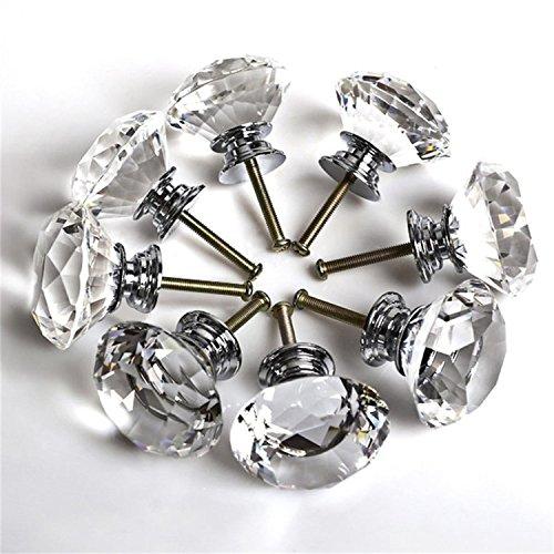 1PCS 40MM Clear Acrylic Kristall Glass Door Knobs Knöpfe Pull Handle Cabinet Möbelknauf