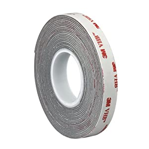 TapeCase 0.125-5-4936 VHB 4936 0.125in x 5yd Adhesive Tape Roll, 25 mil, 0.64mm Thick (1 Roll)