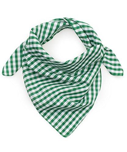 Tracht & Pracht Herren 100% Baumwolle - Trachtentuch Nickituch Karo - Grün