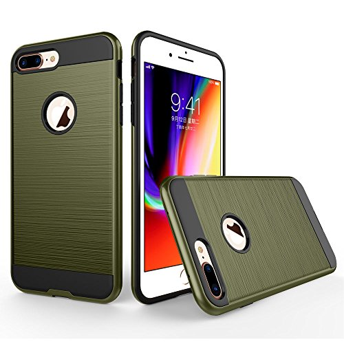 UKDANDANWEI Apple iPhone 7 Plus Hülle,Super Schild Hohe Gel Silikon Haut Slim Fit Zurück Schale Abdecken Schutzhülle Case Cover für Apple iPhone 7 Plus - Weiß Emerald