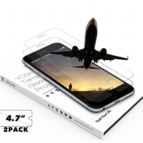 Protector Pantalla Iphone 6 6s 7 (2-Unidades) YOSH® protector cristal