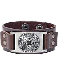 362e3356efe Vintage irlandese nodo Slavi runica amuleto collegamento bracciale per gli  uomini donne regali gioielli
