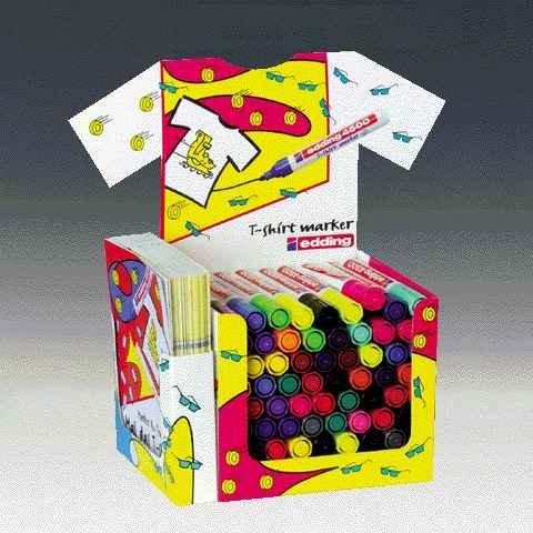 Preisvergleich Produktbild T-Shirt-Marker-Display sortierte Farben Liefermenge = 60