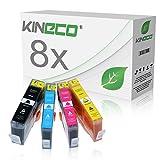 8 Kineco Tintenpatronen kompatibel zu HP 364 XL 364XL für HP Photosmart 7520 e-All-in-One, DeskJet 3520 e-All-in-One, Photosmart 5520 e-All-in-One - Schwarz je 28ml, Color je 18ml mit Chip und Füllstandsanzeige