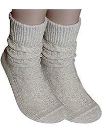 Tobeni 1 paire de chaussettes costumes d'enveloppe avec motif tresse dans un style campagnard mouchetés pour les hommes et les femmes