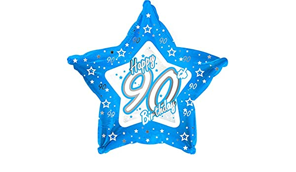 "Sternförmiger Folien-Ballon Happy Birthday /""Pretty Blue 90/"" 45 cm"