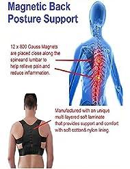 """Postura De Poder Magnético Hombro Espalda Corrector Ayuda Chaleco Unisex Ajustable (Extra Extra Grande = 42"""" hasta 46"""")"""