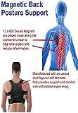 Postura De Poder Magnético Hombro Espalda Corrector Ayuda Chaleco Unisex Ajustable (Extra Extra Grande = 42' hasta 46')