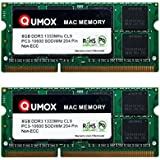 QUMOX PC3-10600 16Go (2x 8Go) 204-Pin 1333MHz SODIMM mémoire d'ordinateur portable pour Apple Mac