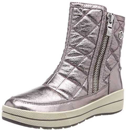 CAPRICE Damen Winterstiefel 26454-21,Frauen Winter-Boots,Schneestiefel,warm,wasserdicht,Tex Decksohle,4cm,Rose METALLIC,UK 6