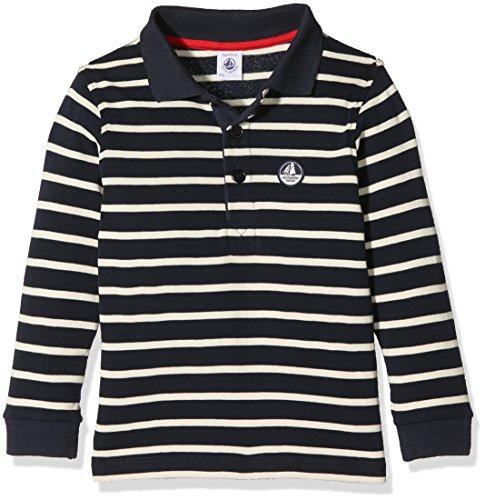 Jungen Polo Shirt Gestreift (Petit Bateau Jungen Poloshirt Polo ML, Mehrfarbig (Smoking/Coquille 57), 98 (Herstellergröße: 3ans/95cm))