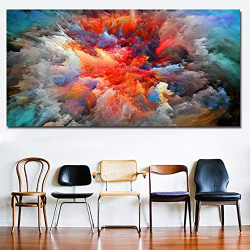 Painted Art Master Poster und Druckkunst Wandkunst bunte abstrakte Bild Leinwand Malerei Wandbild für Wohnzimmer Dekoration (kein Rahmen) 20x40CM