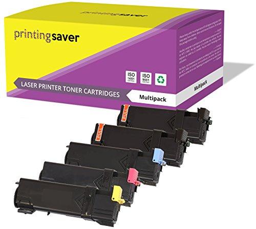 5er Set Toner Kompatibel für Dell 2150cn, 2150cdn, 2155cn, 2155cdn Drucker