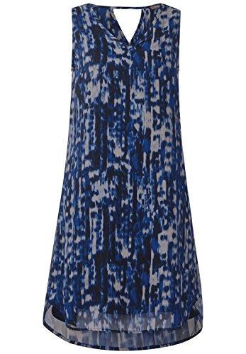 Street One Damen Kleid mit doppeltem V-Neck Schwarz (Black)