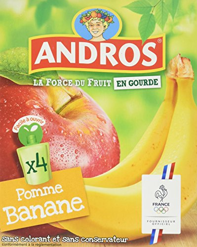 Andros Gourde Pomme Banane - Lot de 4