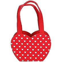 Filztasche Herz aus Filz Rot//Weiß Ostern Osternest Geschenktasche Tasche