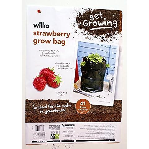 Strawberry Grow Bag, riutilizzabile, capacità 41 L, con drenaggio Holes-ideale per le serre & Patio