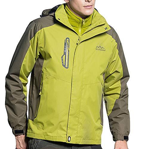 Odjoy-fan-uomo abito a due pezzi all'aperto tenere caldo giacche jacket down puffer giacca foderato di pile incappucciato piumino buco manica lunga top cappotto outwear classics denim jacket