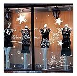 QTZJYLW Home Fensteraufkleber Weihnachtsstern Kugel Muster PVC Wandaufkleber Für Weihnachtsgeschäft Partyfensterdekorationen