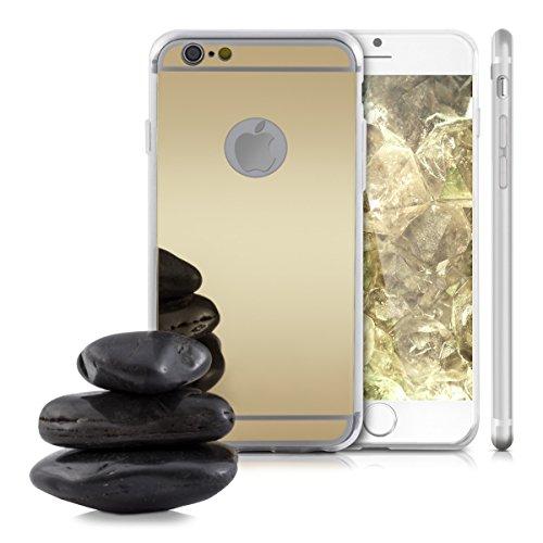 kwmobile Hülle für Apple iPhone 6 / 6S - TPU Silikon Backcover Case Handy Schutzhülle - Cover Marmor Design Schwarz Weiß .Gold spiegelnd