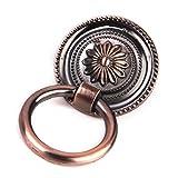 OUNONA 10pcs Küchenschrank Schrank Schublade Ziehen Ring Griff Knauf Messing Antik (Antik Kupfer)