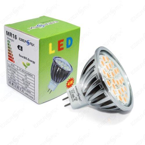 Energmix LED Spot MR163528SMD, Warmweiß 4 wattsW 12 voltsV