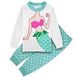 Mombebe Schlafanzug Baby Mädchen Meerjungfrau Pyjamas Set (Meerjungfrau 2, 18-24 Monate)?