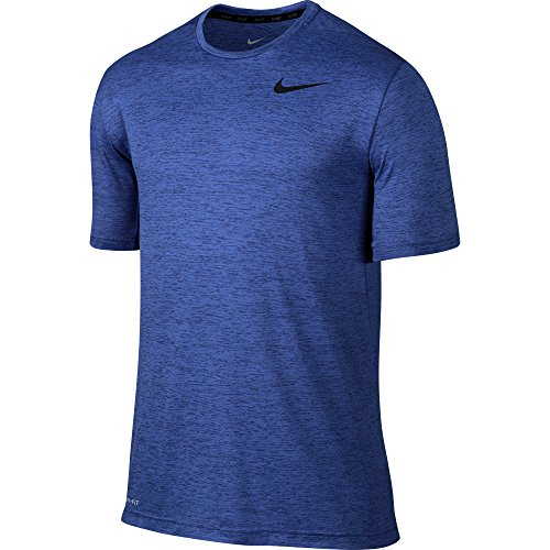 Nike Dri-Fit Training SS Herren-T-Shirt S Azul / Negro (Deep Royal Blue/Obsidian/Black) (Short Sleeve T-shirt Dri-fit)