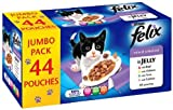 FELIX POUCHES TWO X JUMBO PACKS of 44 = 88 Mixed Jelly Selection