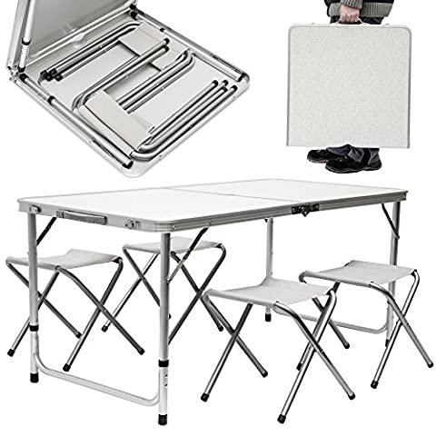 Camping Table with Chairs | Adjustable height | Set 1
