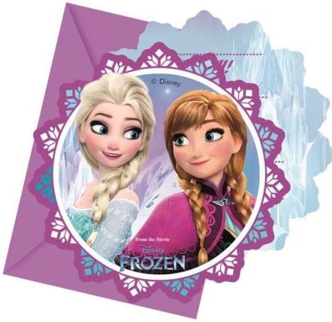 Procos Disney Frozen Aurores Boréales Invitations Et Enveloppes Enveloppes Enveloppes (paquet De 6) | France
