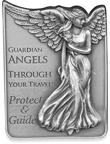 Guardian Angels Metal Car Visor Inspirational Message Clip