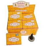 Goloka Nagchampa Dhoop Cones Räucherkegel 120 incense cones 12 Schachteln mit Halter Großpackung Vorrat