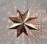 KAMACA Magisch leuchtender STERN / Fenster - Licht / Fensterbeleuchtung - aus Messing gefertigt - Größe 28 x 28 - wunderschöne Weihnachtsdeko für Fenster & Wand - edel und hochwertig - Zuleitung ca. 350 cm - ideal für den Innen - Bereich geeignet - Farbenauswahl - NEU aus dem KAMACA-SHOP - Herbst Winter Advent und Weihnachten (Kupfer)