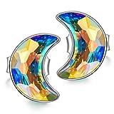 PRINCESS NINA Magischer Stein Serie 925 Sterling Silber Damen Ohrringe mit Kristallen von Swarovski Weihnachtsgeschenke Schmuck Geschenke zum Geburtstag Jubiläum Mutter Tochter Mädchen FrauenSie
