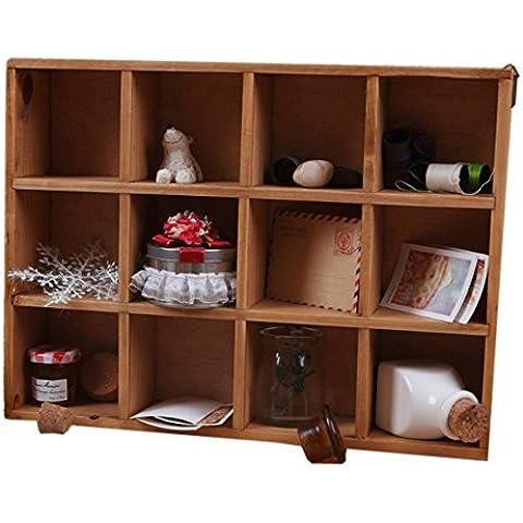 12 Grid Drawer Organizer Wooden Divider Storage Box Wood Craft Boxes For Weddings, Crafts (brown), 12W*16L*3.5H Inch (brown) (wood)¡ - Stamp Treasure Box