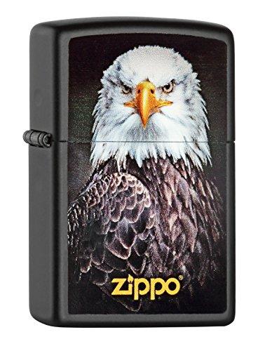 Zippo 60.000.517 Feuerzeug Eagle Portrait, Spring 2015, schwarz matt (Zippo Matt Schwarz)