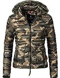 Navahoo Damen Übergangs Jacke Steppjacke Lilly (vegan hergestellt) Camouflage Gr. S
