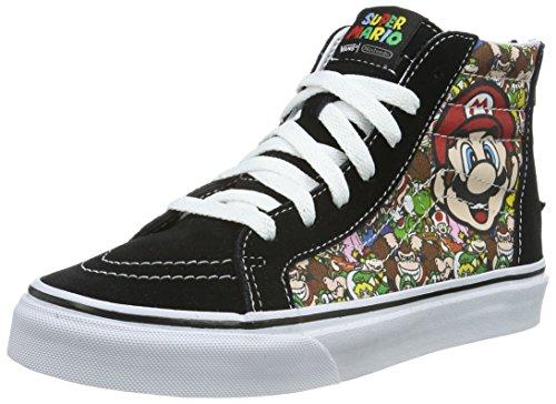 Vans Unisex-Kinder SK8-Hi Zip High-Top Mehrfarbig ((Nintendo) Mario & Luigi/True White) 34.5 EU (Für Cute Vans Mädchen)