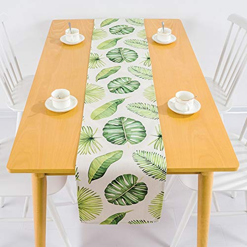Nordischen Regenwald Wind Grün Tischdecke Aus Baumwolle Und Leinen Western Tabelle Flag Tv-Schrank Tisch Tischdecke Tischdecke Moderne Tuch, 30 X 240 cm ()