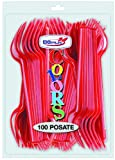 Forchette Rosse 100 Pz