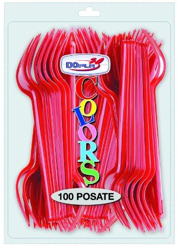 CF.100 FORCHETTE ROSSO x2